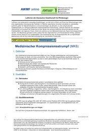 Normstrümpfe, Werden Für Das Bein In Vier Ausführungen ... - AWMF