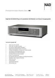 Produktinformation Masters Serie M5 - NAD