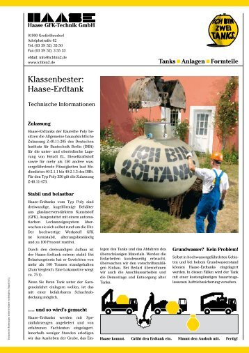 Klassenbester: Haase-Erdtank - Haase GFK-Technik GmbH