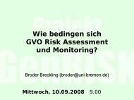 Broder Breckling: Risk assessment und Monitoring - Nabu