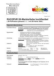 TM Technisches Merkblatt - Rupf & Co. AG