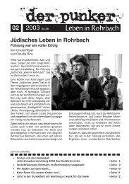 Jüdisches Leben in Rohrbach - Der Punker