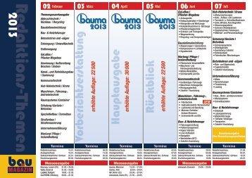 R edaktions-Themen2013 - SBM Verlag GmbH