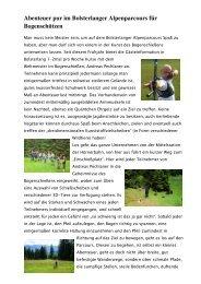 Abenteuer pur im Bolsterlanger Alpenparcours für Bogenschützen