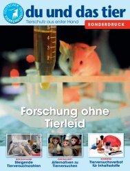 Forschung ohne Tierleid - Deutscher Tierschutzbund e.V.