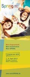 SPRING 2013 Programmheft - Deutsche Evangelische Allianz