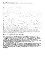 Fragen und Antworten zur Angioplastie - im Kantonsspital Winterthur