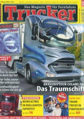 02/2009 Trucker: Raumschiff auf der Autobahn
