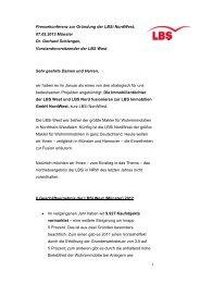 Rede Dr. Schlangen zur Pressekonferenz am 7.Mai 2013 - LBS