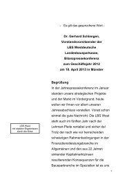 Rede zur Bilanzpressekonferenz - LBS
