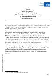 Merkblatt Antragsunterlagen - Deutsches Institut für Bautechnik