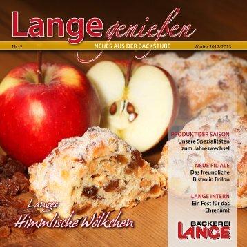Himmlische Wölkchen - bei der Bäckerei Lange!