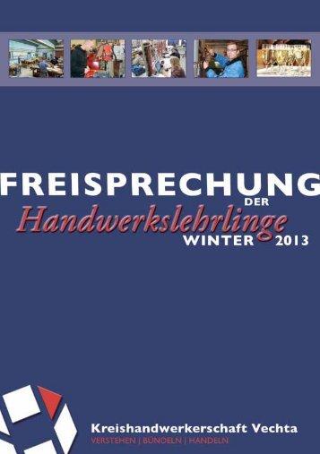 Freisprechung- Broschüre-Winter 2013 - Kreishandwerkerschaft ...