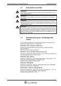 Anwenderhandbuch Sicherheitstechnische Anwenderhinweise ... - Seite 7
