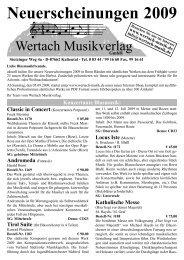 Katalog 2009 Herbst.indd - Wertach Musikverlag