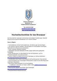 Hochzeitscheckliste für Brautpaare – 4 Seiten (131 ... - Barockschloss