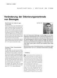 Veränderung der Odorierungsmerkmale von Brenngas - HSR ...