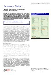 Wealth Management Research