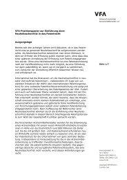 Einführung einer Neuheitsschonfrist in das Patentrecht - VfA