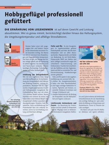 Hobbygeflügel professionell gefüttert (pdf / 488 KB) - UFA AG