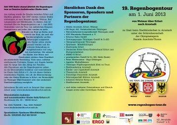 19. Regenbogentour am 1. Juni 2013 - Thüringen Tourismus