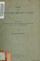 Studien über die Sprache Abrahams a S. Clara : ein Beitrag zur ...
