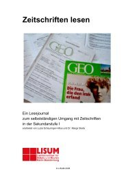 Handreichung zum Lesejournal für Lehrkräfte - Bildungsserver ...