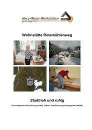 Hausprospekt - Harz-Weser-Werkstätten