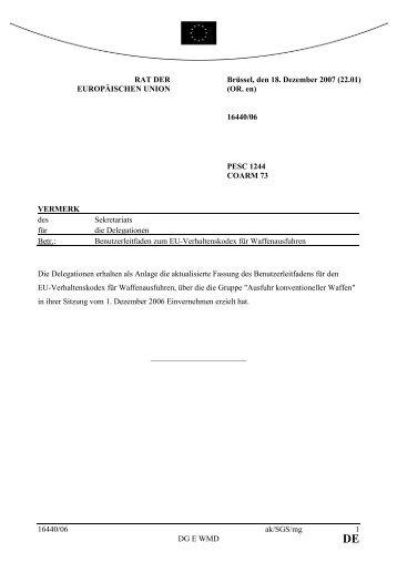 Benutzerleitfaden für die Umsetzung des EU ... - BITS
