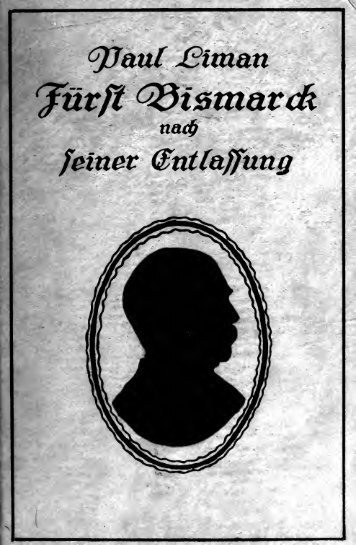 Fürst Bismarck nach seiner Entlassung