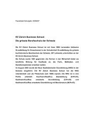 KV Zürich Business School: Die grösste Berufsschule der Schweiz