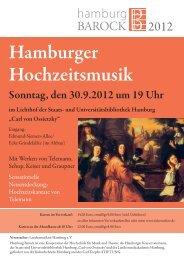 Hamburger Hochzeitsmusik - Hamburger Konservatorium