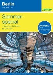 Angebotsflyer railtour Suisse - BLS