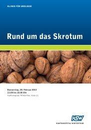 Rund um das Skrotum (PDF) - im Kantonsspital Winterthur