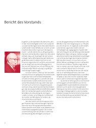 Bericht des Vorstands - Hertie Stiftung