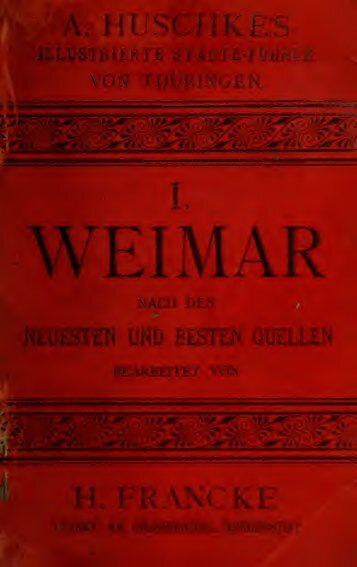 Weimar und Umgebungen