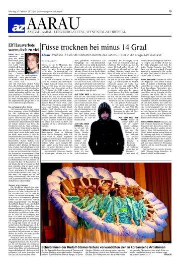 Medienmitteilung Aargauer Zeitung - Rudolf Steiner Schule Aargau