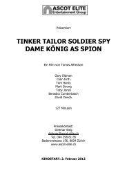 Presseheft Tinker Tailor Soldier Spy - Ascot Elite Entertainment Group