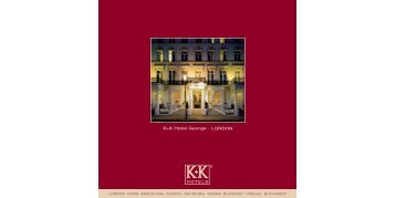 Download E-Brochure - K+K Hotels