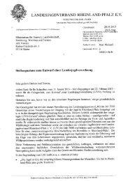 Stellungnahme des LJV - Landesjagdverband Rheinland-Pfalz