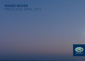 Ausstattung und Preisen - Land Rover