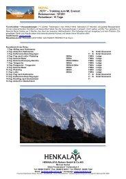 """""""YETI"""" – Trekking zum Mt. Everest Reisenummer: 101201 ..."""