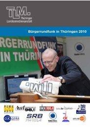 Bürgerrundfunk in Thüringen 2010 - TLM