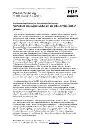 Pressemitteilung - FDP Kreisverband Nordfriesland