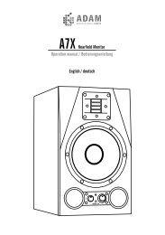 A7X Nearfield Monitor Operation manual ... - zZounds.com