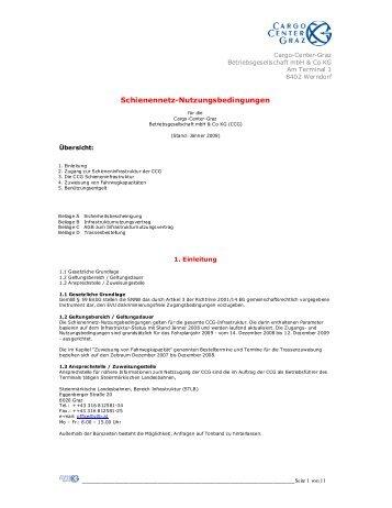 Seite 1 von 11 Schienennetz-Nutzungsbedingungen - Cargo Center ...