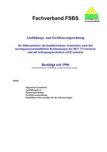 Fachverband FSBS - Hebold HSH
