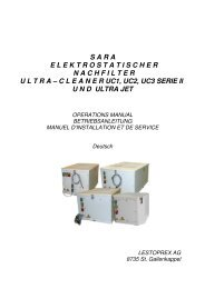 Betriebsanleitung elektrostatischer Nachfilter - Lestoprex AG