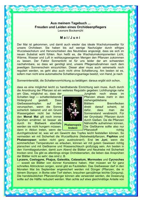 Mai/Juni - Orchidee-wuerttemberg.de