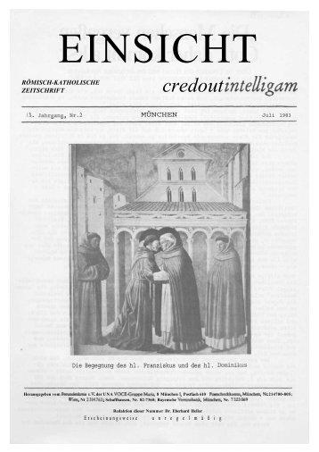 13. Jahrgang, Heft 2 (Juli 1983) - CatholicaPedia
